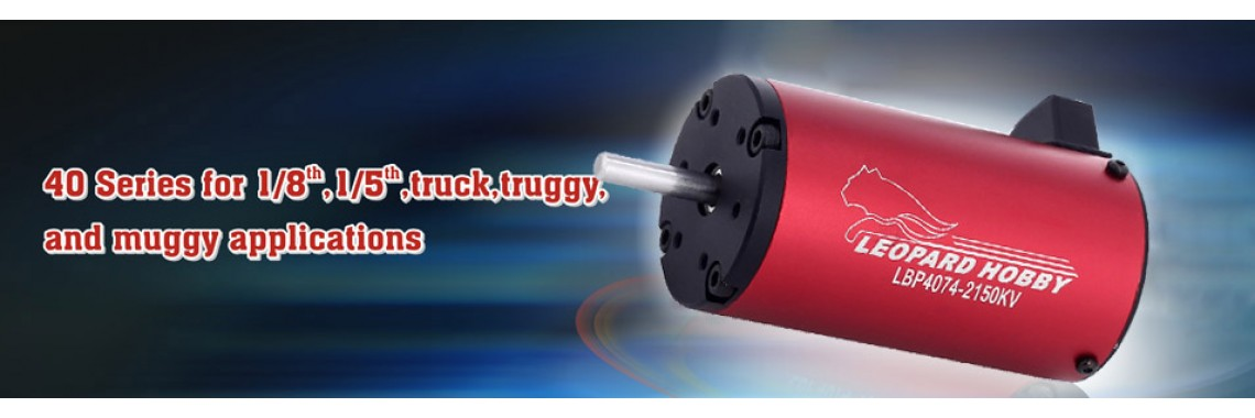 Leopard brushless motor 40-series for truck truggy muggy buggy